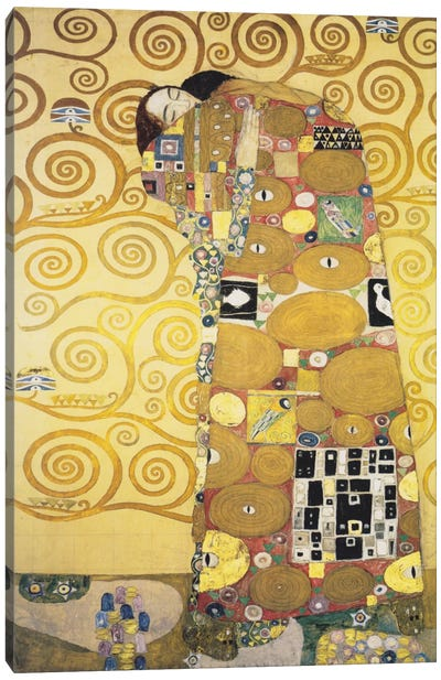 Erfullung 1905 by Gustav Klimt Canvas Wall Art