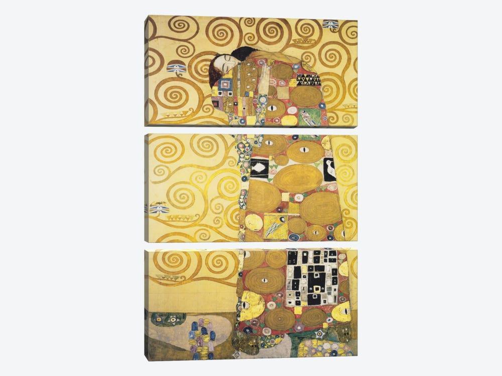 Erfullung 1905 by Gustav Klimt 3-piece Art Print