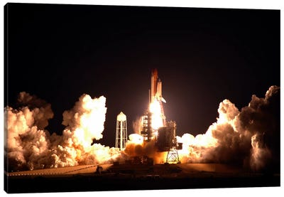 Space Shuttle Endeavour Launch Canvas Art Print