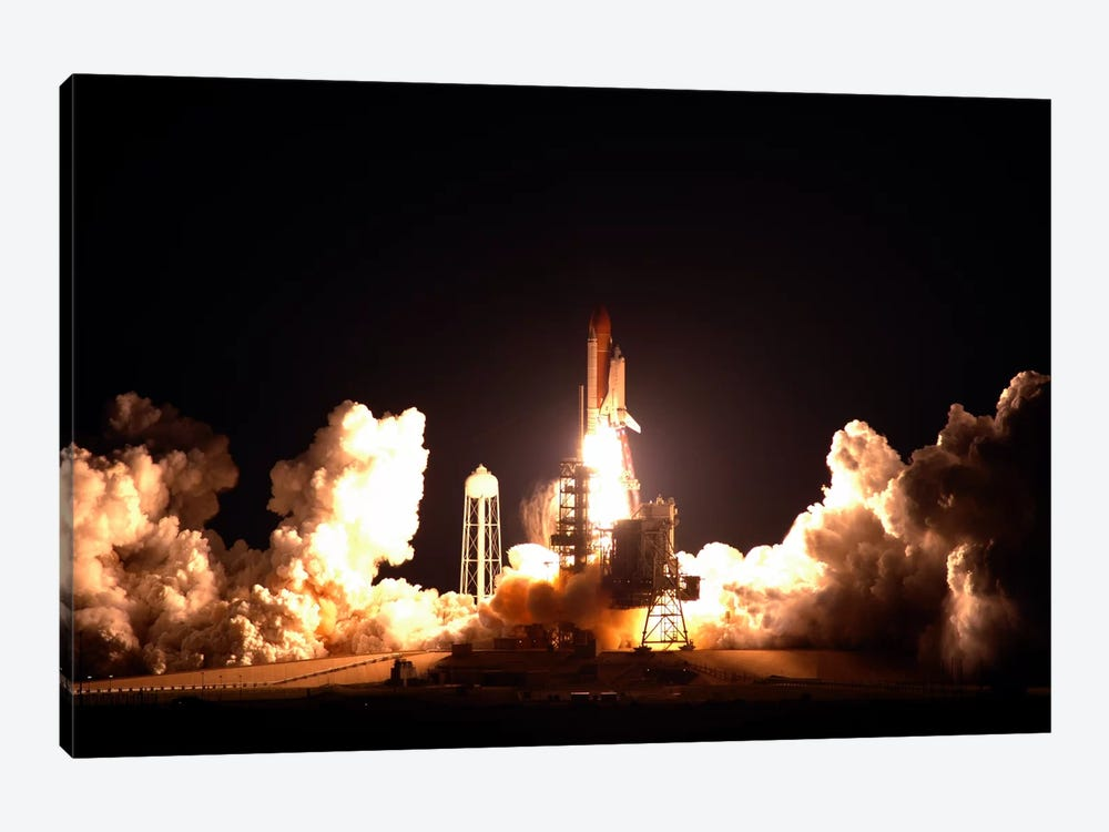 Space Shuttle Endeavour Launch by NASA 1-piece Canvas Artwork
