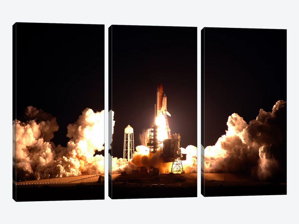 Space Shuttle Endeavour Launch by NASA 3-piece Canvas Wall Art