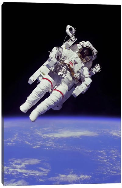 NASA Astronaut Canvas Art Print