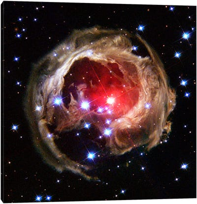V838 Monocerotis (Hubble Space Telescope) Canvas Art Print