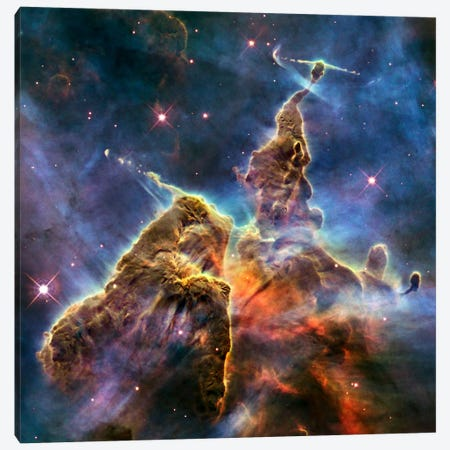 Mystic Mountain in Carina Nebula II (Hubble Space Telescope) Canvas Print #11069} by NASA Canvas Art Print