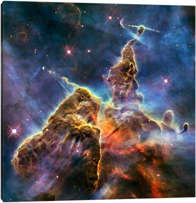 Mystic Mountain in Carina Nebula II (Hubble Space Telescope) Canvas Art Print