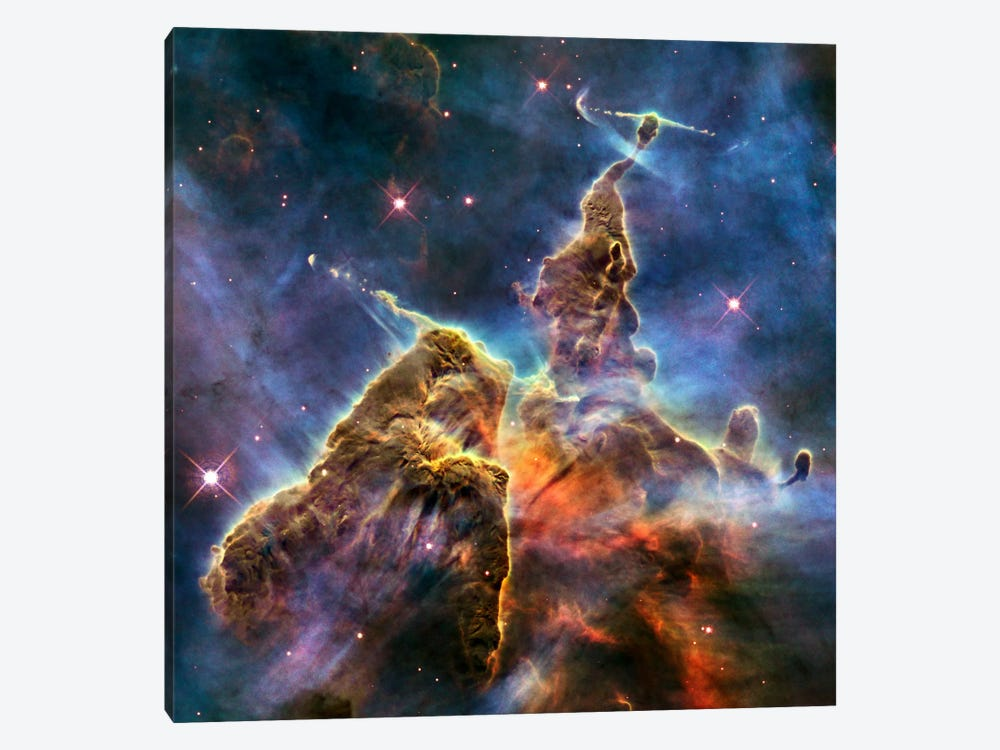 Mystic Mountain in Carina Nebula II (Hubble Space Telescope) by NASA 1-piece Art Print
