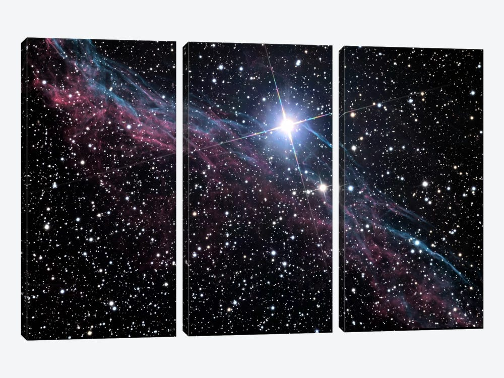 Veil Nebula (NASA) by NASA 3-piece Art Print