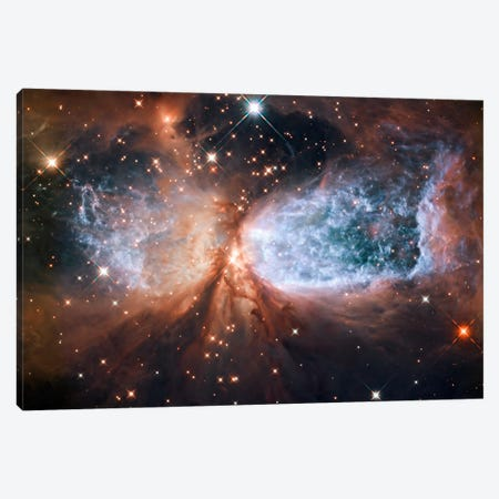 Celestial Snow Angel S106 Nebula (Hubble Space Telescope) Canvas Print #11075} by NASA Canvas Print