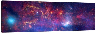 Center of the Milky Way Galaxy (Chandra/Hubble/Spitzer) Canvas Art Print