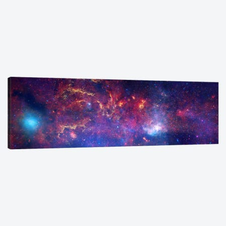 Center of the Milky Way Galaxy (Chandra/Hubble/Spitzer) Canvas Print #11103} by NASA Canvas Artwork