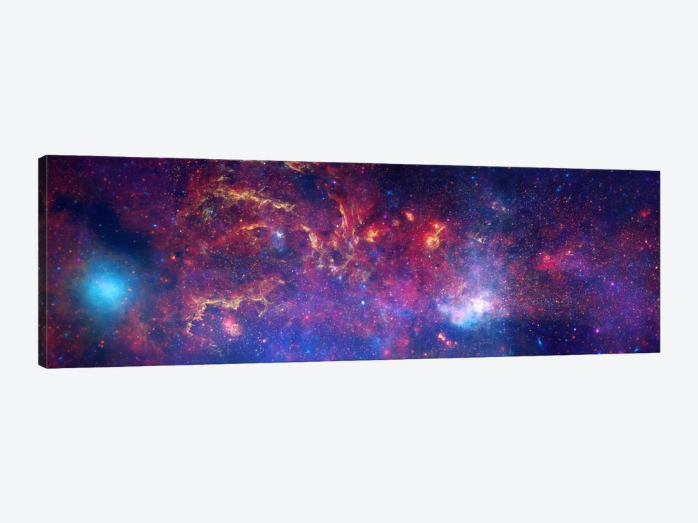 Center of the Milky Way Galaxy (Chandra/Hubble/Spitzer) 1-piece Canvas Art