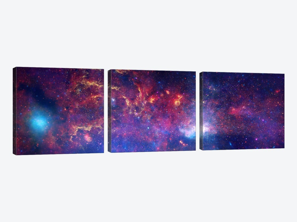 Center of the Milky Way Galaxy (Chandra/Hubble/Spitzer) 3-piece Canvas Wall Art
