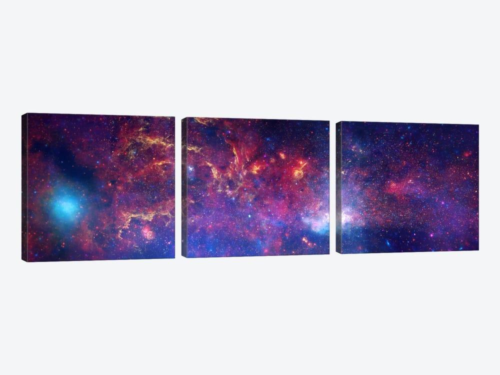 Center of the Milky Way Galaxy (Chandra/Hubble/Spitzer) by NASA 3-piece Canvas Wall Art
