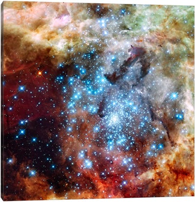 Star Cluster on Collision Course (Hubble Space Telescope) Canvas Art Print