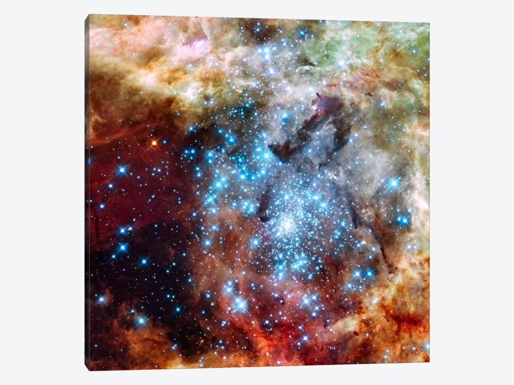 Star Cluster on Collision Course (Hubble Space Telescope) 1-piece Canvas Art Print