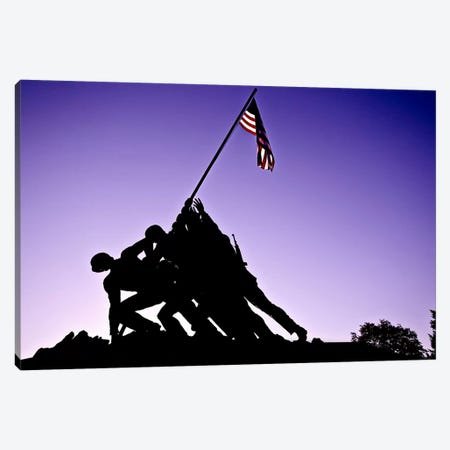World War II Iwo Jima Memorial Canvas Print #11105} Canvas Print