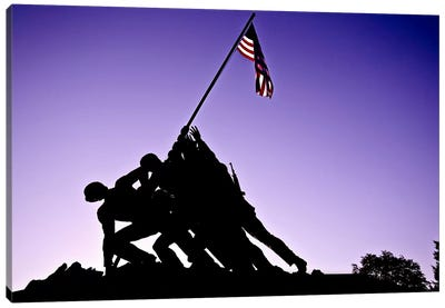 World War II Iwo Jima Memorial Canvas Print #11105