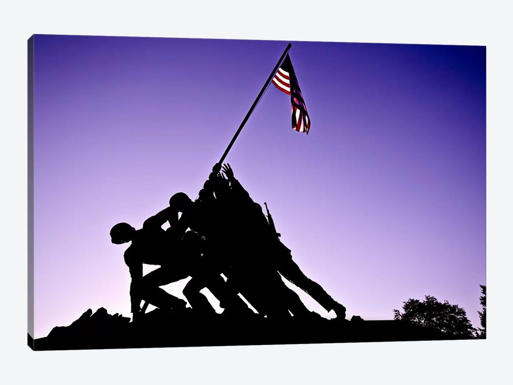 World War II Iwo Jima Memorial by Unknown Artist 1-piece Canvas Wall Art