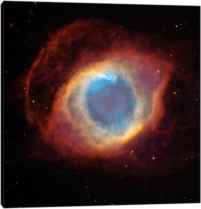 Helix (Eye of God) Nebula (Hubble Space Telescope) Canvas Art Print
