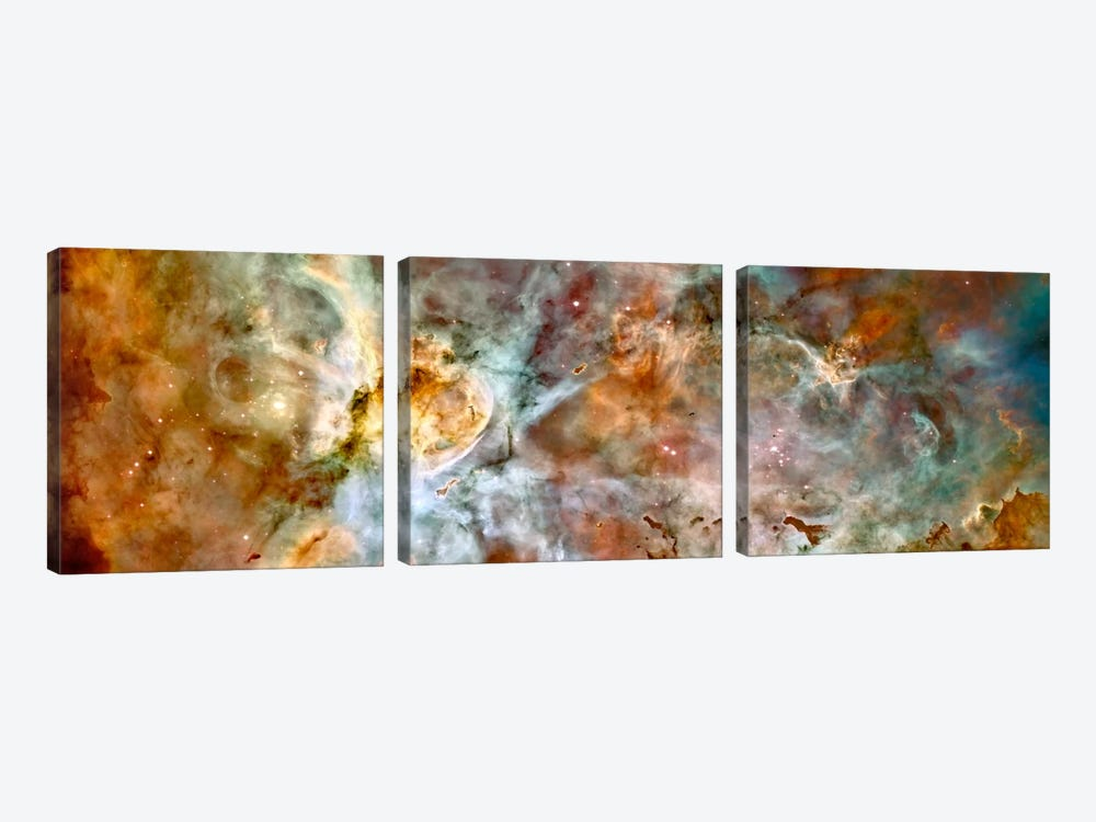 Carina Nebula (Hubble Space Telescope) 3-piece Canvas Wall Art