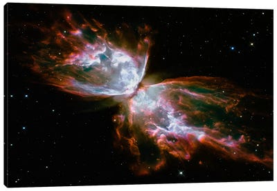 Butterfly Nebula (Hubble Space Telescope) Canvas Art Print