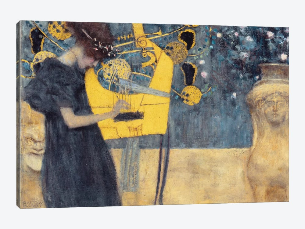 Musik I 1895 by Gustav Klimt 1-piece Canvas Art
