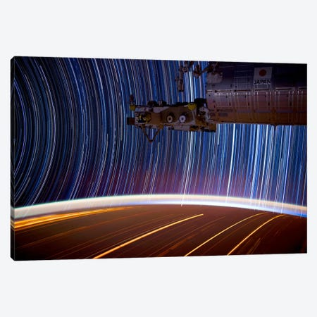 Long Exposure Star Photograph From Space Canvas Print #11113} by Unknown Artist Art Print