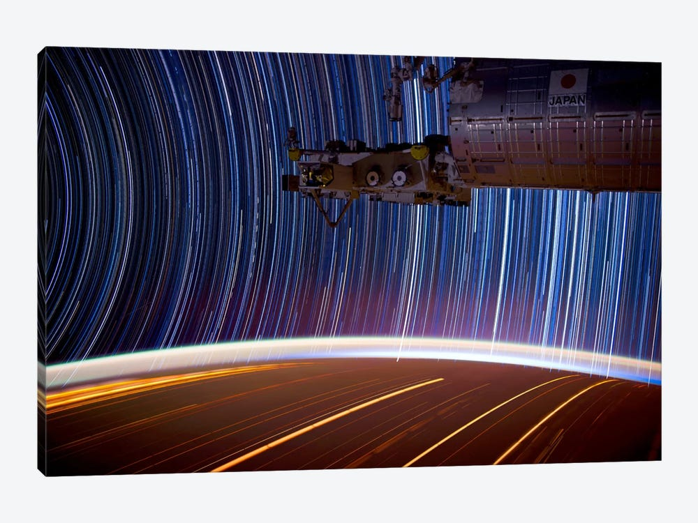 Long Exposure Star Photograph From Space 1-piece Canvas Print