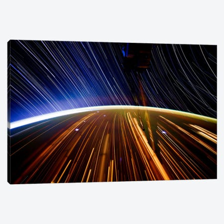 Long Exposure Star Photograph From Space II Canvas Print #11114} Canvas Wall Art