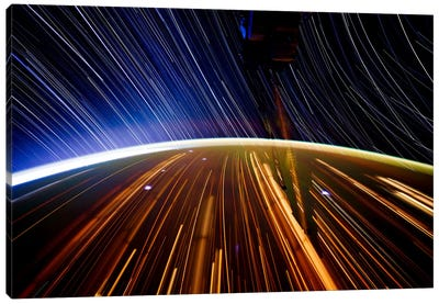 Long Exposure Star Photograph From Space II Canvas Art Print