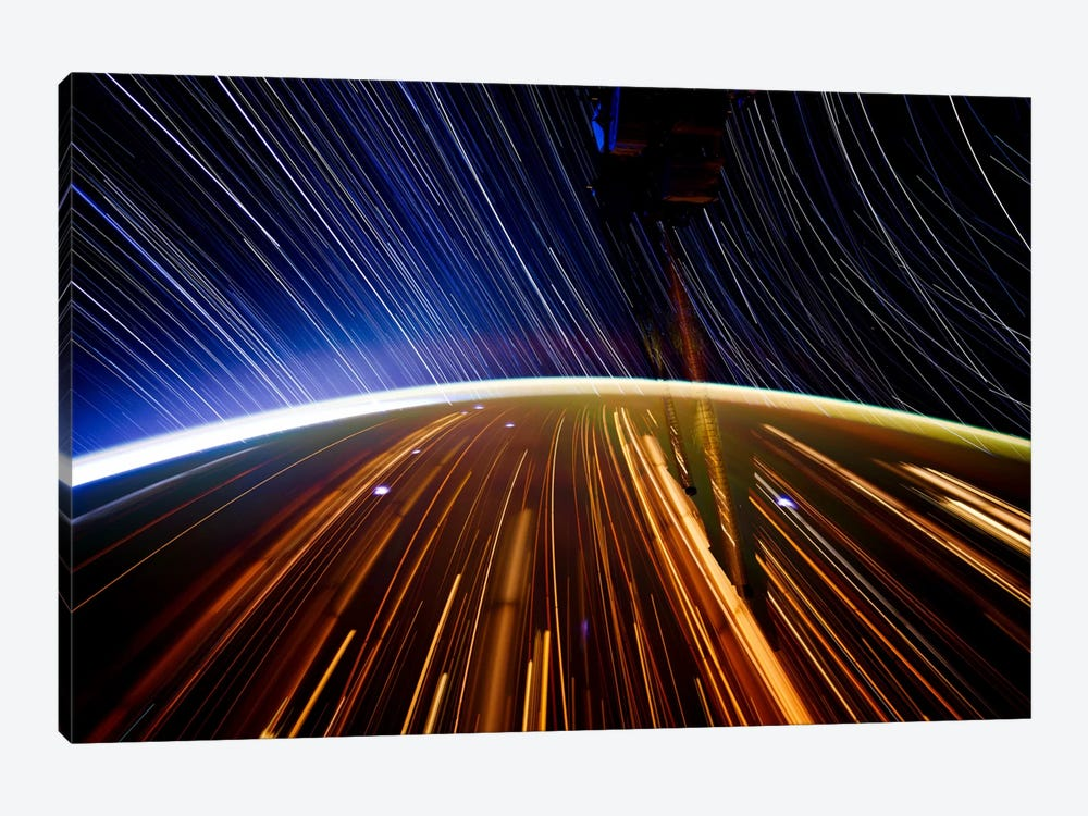 Long Exposure Star Photograph From Space II 1-piece Canvas Wall Art