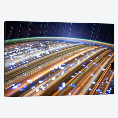 Long Exposure Star Photograph From Space III Canvas Print #11115} Canvas Wall Art