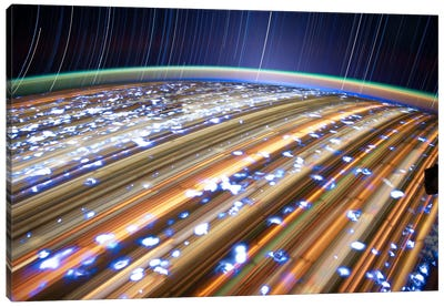 Long Exposure Star Photograph From Space III Canvas Print #11115