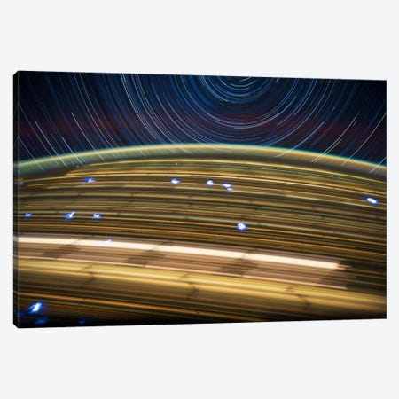 Long Exposure Star Photograph From Space IV Canvas Print #11116} by Unknown Artist Canvas Art