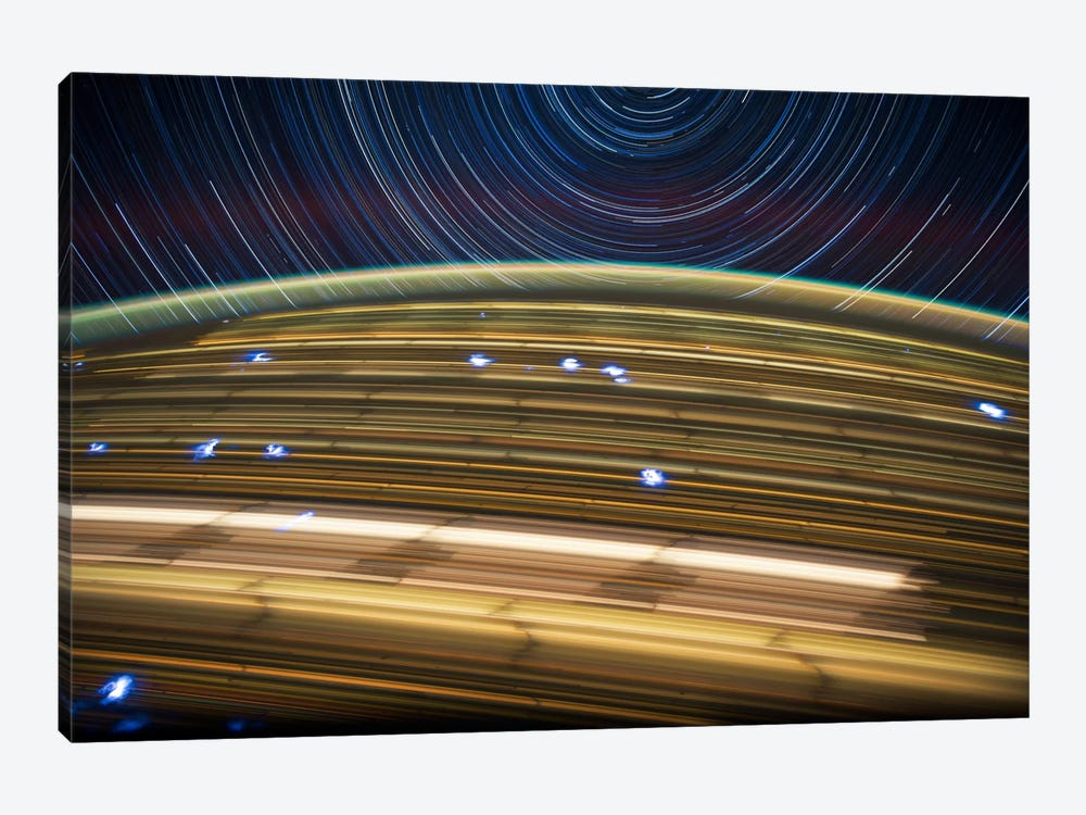 Long Exposure Star Photograph From Space IV by Unknown Artist 1-piece Canvas Artwork