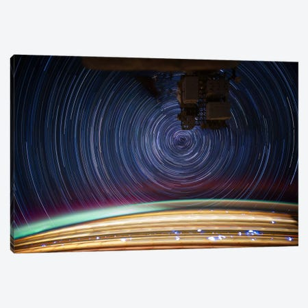 Long Exposure Star Photograph From Space V Canvas Print #11117} by Unknown Artist Canvas Art