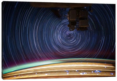 Long Exposure Star Photograph From Space V Canvas Print #11117