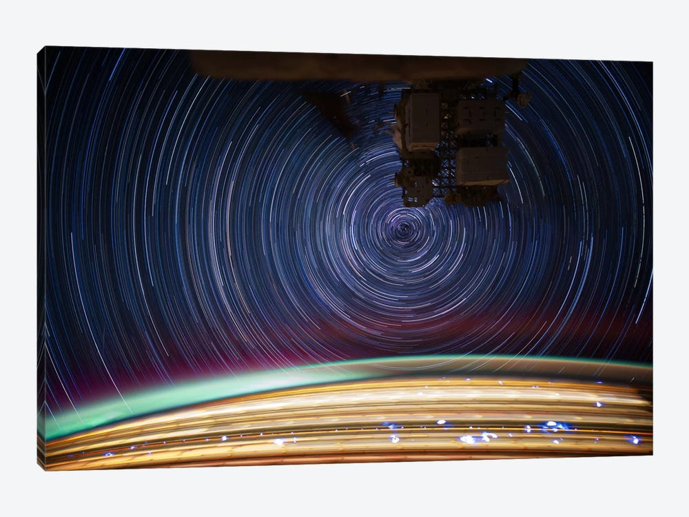 Long Exposure Star Photograph From Space V by Unknown Artist 1-piece Canvas Print