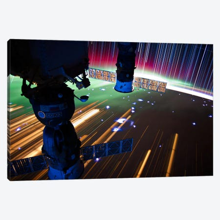 Long Exposure Star Photograph From Space VI Canvas Print #11118} by Unknown Artist Art Print