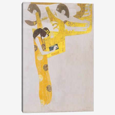 Poesie 1902 Canvas Print #1111} by Gustav Klimt Canvas Wall Art