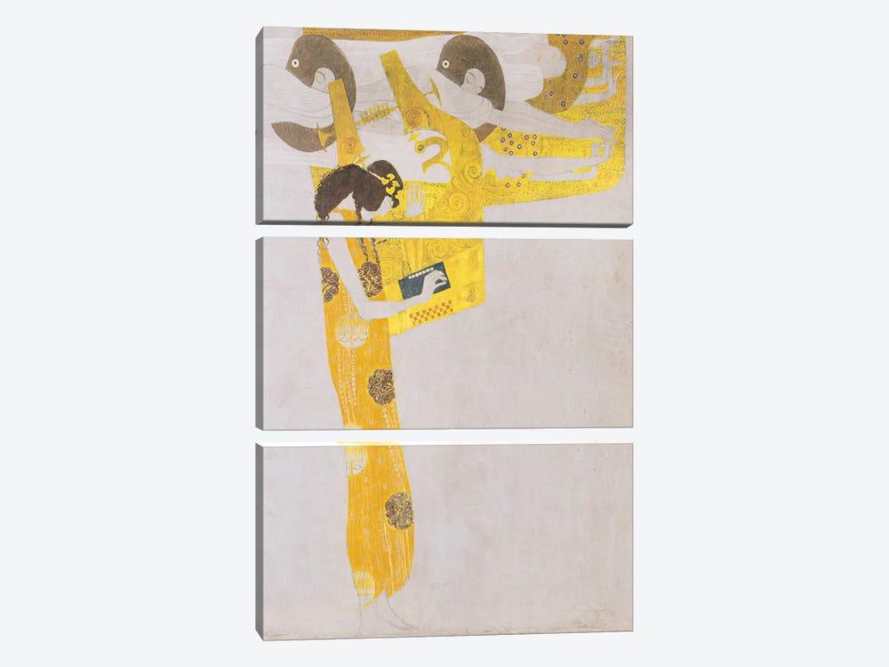 Poesie 1902 by Gustav Klimt 3-piece Art Print