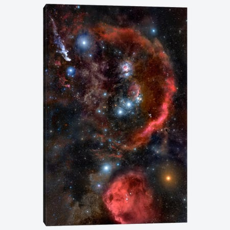 Orion the Hunter (Hubble Space Telescope) Canvas Print #11121} by NASA Canvas Art
