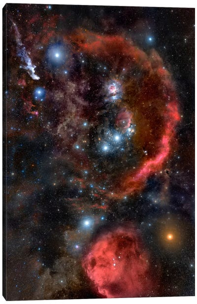 Orion the Hunter (Hubble Space Telescope) Canvas Art Print