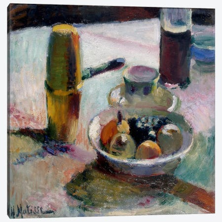 Fruit & Coffeepot Canvas Print #11124} by Henri Matisse Canvas Art Print
