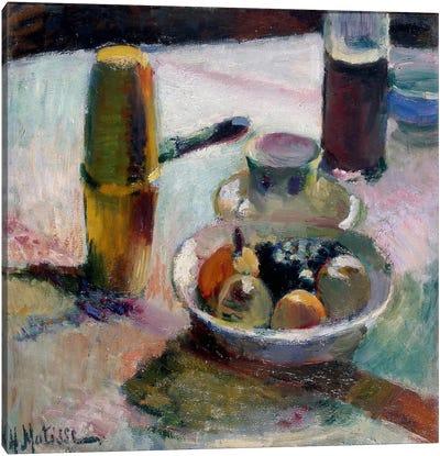 Fruit & Coffeepot Canvas Art Print