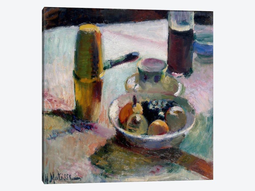 Fruit & Coffeepot by Henri Matisse 1-piece Canvas Print