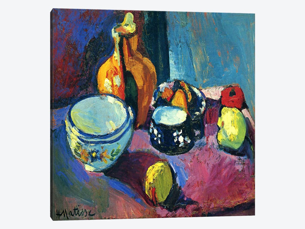 Dishes & Fruit by Henri Matisse 1-piece Canvas Art Print