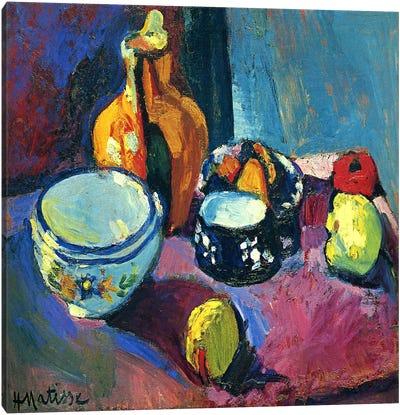 Dishes & Fruit Canvas Art Print