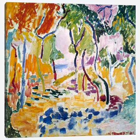 Landscape near Collioure (Study for Le Bonheur de Vivre), 1905 Canvas Print #11131} by Henri Matisse Art Print