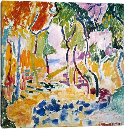 Landscape near Collioure (Study for Le Bonheur de Vivre), 1905 Canvas Art Print
